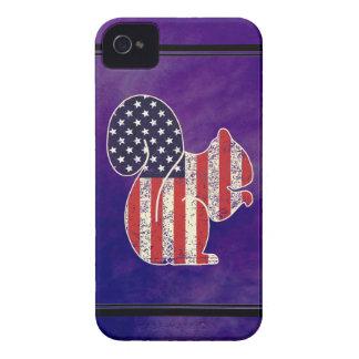 Étui iPhone 4 Drapeau américain affligé par écureuil drôle