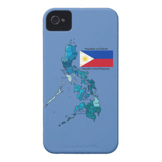 Étui iPhone 4 Drapeau et carte des Philippines