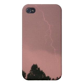 Étui iPhone 4 Foudre rose 3 4/4s