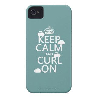Étui iPhone 4 Gardez le calme et courbez-vous sur (toute