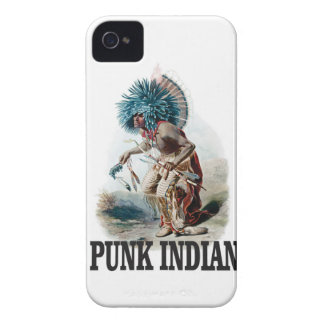 Étui iPhone 4 Indien punk bleu