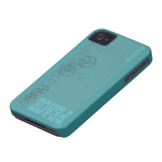 Étui iPhone 4 iPhone turquoise de paix 4 cas