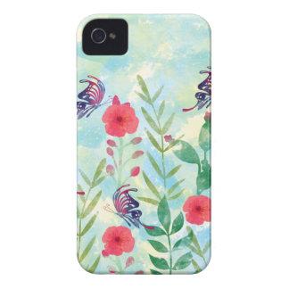 Étui iPhone 4 jardin botanique VI d'aquarelle