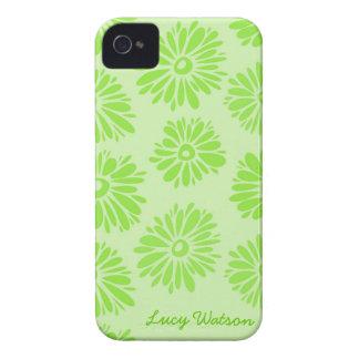 Étui iPhone 4 Le vert fleurit la caisse de l'iPhone 4/4S
