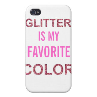 Étui iPhone 4 Les PARTIES SCINTILLANTES sont ma couleur préférée