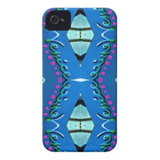 """Étui iPhone 4 Motif tribal magenta turquoise bleu de """"Venise"""""""