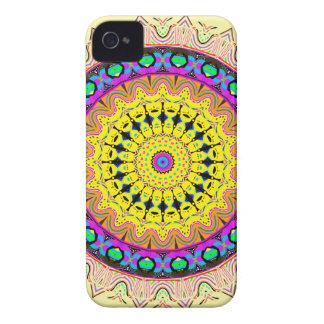 Étui iPhone 4 Nouveau bleu mou linéaire de jaune de sable