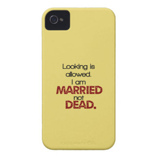 Étui iPhone 4 On permet le regard, je suis marié pas