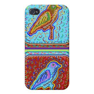Étui iPhone 4 Paires merveilleuses d'oiseaux