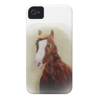 Étui iPhone 4 Peinture de cheval de Brown