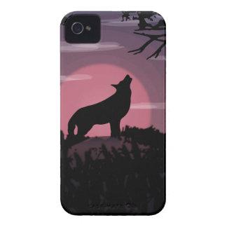 Étui iPhone 4 pleine lune de loup