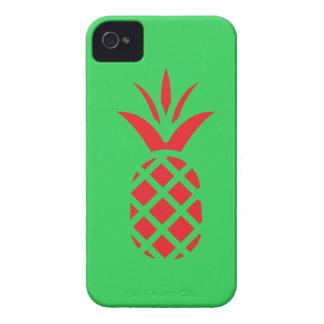 Étui iPhone 4 Pomme de pin rouge en vert