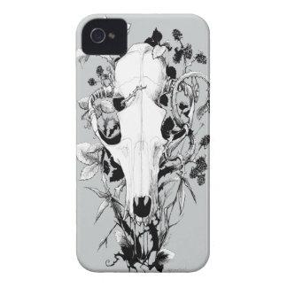 Étui iPhone 4 Quatre crânes animaux de saisons : Fruit d'automne