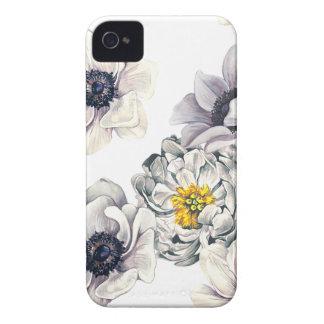 Étui iPhone 4 Ressort frais de fleur d'anémone florale de