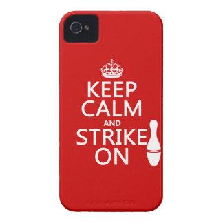 Étui iPhone 4 Roulement - gardez le calme et frappez dessus