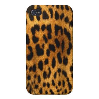 Étui iPhone 4 Texture authentique de fourrure de léopard