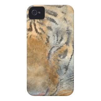 Étui iPhone 4 Tigre étroit dans l'aquarelle