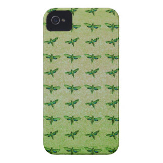 Étui iPhone 4 Vert de papillon+bleu