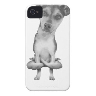 Étui iPhone 4 Yogi Doggie cute dog in yoga asana, cool funny