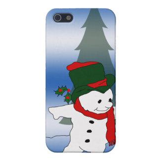 Étui iPhone 5 Bonhomme de neige de patinage