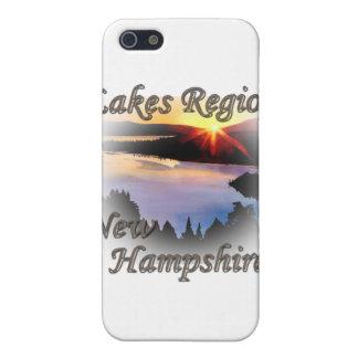 Étui iPhone 5 Brun du New Hampshire de région de lacs