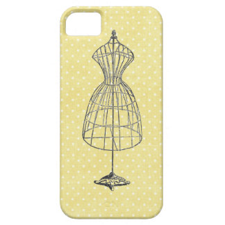 Étui iPhone 5 Cadre vintage de robe de fil