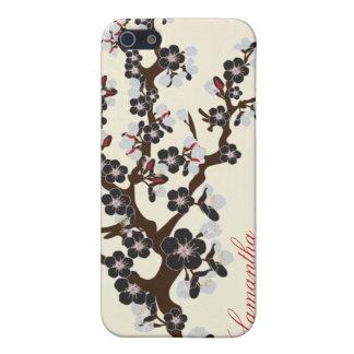 Étui iPhone 5 caisse de point de fleurs de cerisier de l'iPhone