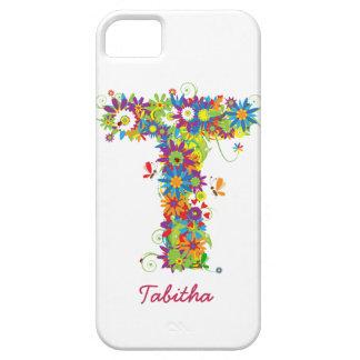 Étui iPhone 5 Cas floral de Coque-Compagnon de l'iPhone 5 du