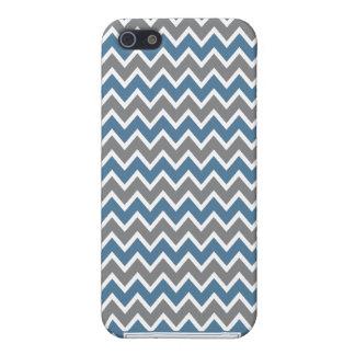 Étui iPhone 5 Chevron Pern (bleu)