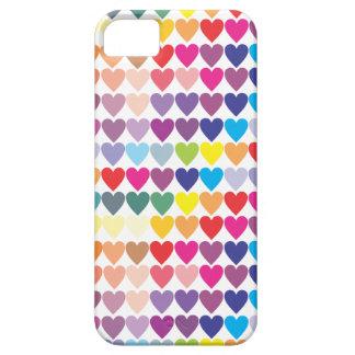 Étui iPhone 5 Coeurs colorés d'amour, girly