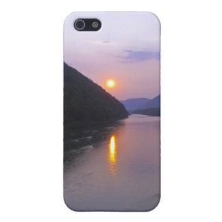 Étui iPhone 5 Coucher du soleil au-dessus de Hyner Pennsylvanie
