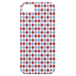 Étui iPhone 5 Couverture à motifs de losanges de téléphone