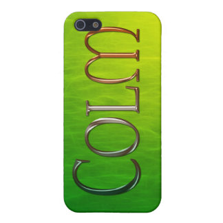 Étui iPhone 5 Couverture d'iPhone marquée par nom de COLM