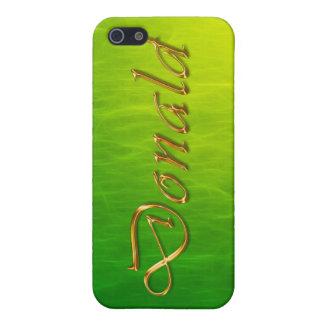 Étui iPhone 5 Couverture d'iPhone marquée par nom de DONALD