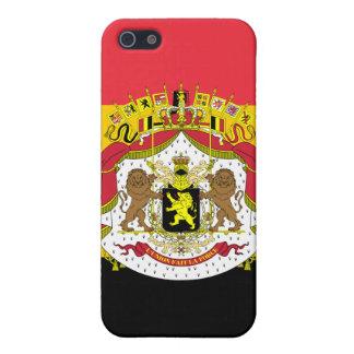Étui iPhone 5 Drapeau de mod du manteau de la Belgique du cas de