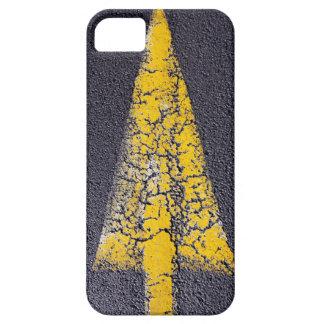 Étui iPhone 5 Flèche jaune criquée sur une route