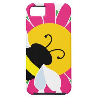 Étui iPhone 5 Gaffez l'abeille sur la fleur
