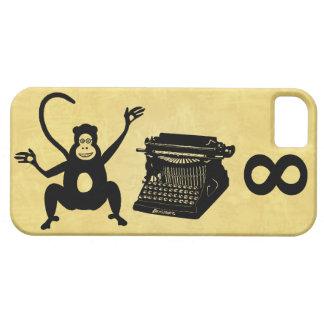 Étui iPhone 5 Infini drôle de machine à écrire de singe d'auteur