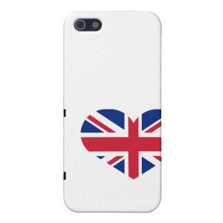 Étui iPhone 5 J'aime le coeur de marque de drapeau national de