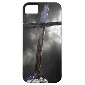 Étui iPhone 5 La vieille croix en bois