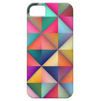 Étui iPhone 5 Le carré multicolore de triangle couvre de tuiles