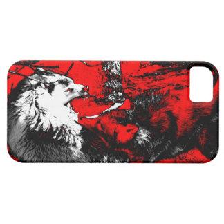Étui iPhone 5 Le loup de grondement lutte concepteur