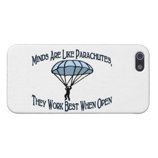 Étui iPhone 5 Les esprits sont comme des parachutes
