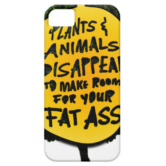 Étui iPhone 5 Les PLANTES et les ANIMAUX DISPARAISSENT…
