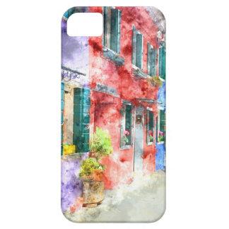 Étui iPhone 5 Maisons colorées dans Burano Italie près de Venise