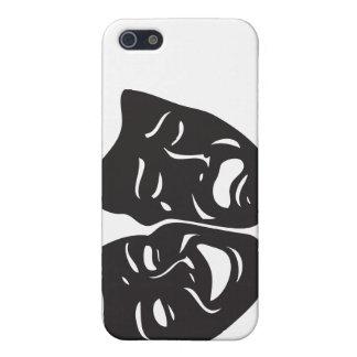 Étui iPhone 5 Masques de théâtre de drame de tragédie de comédie