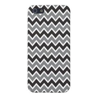 Étui iPhone 5 motif de Chevron de cas de l'iPhone 4 (noir)