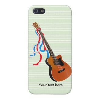 Étui iPhone 5 Musique acoustique d'Américain de guitare basse