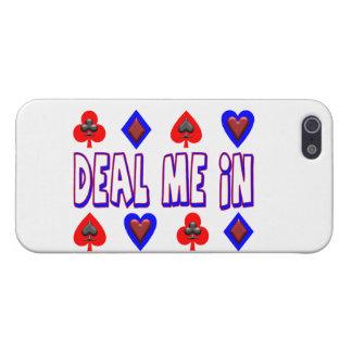 Étui iPhone 5 Occupez-vous moi dans des cartes de jeu