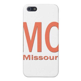 Étui iPhone 5 Orange simple de MOIS Missouri
